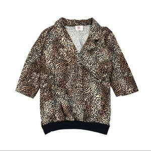 Vintage 80s Unisex Double Breasted Cheetah Shirt